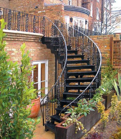scari exterioare din fier forjat Exterior wrought iron stair railings 16