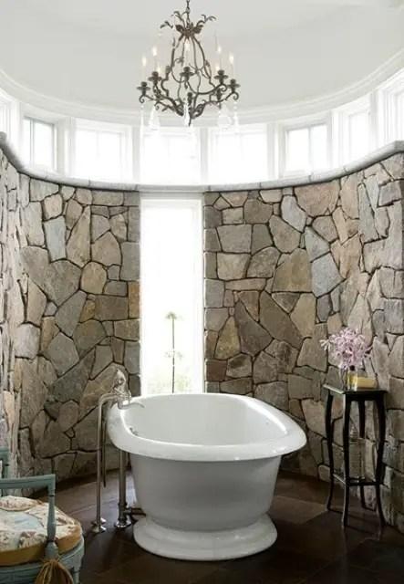 bai decorate cu piatra stone bathroom ideas 5