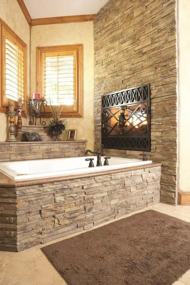 bai decorate cu piatra stone bathroom ideas 8