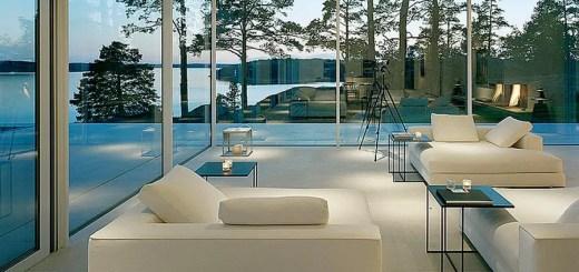 Case cu pereti din sticla moderne