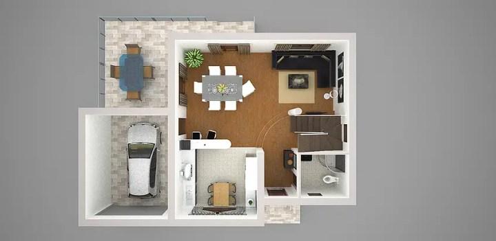 case cu terasa la etaj Houses with second floor terrace 12