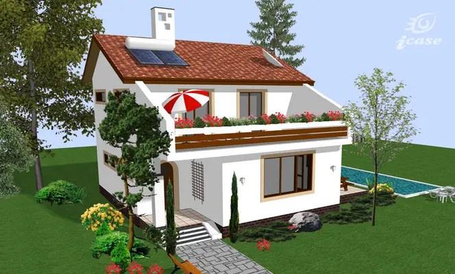 case cu terasa la etaj Houses with second floor terrace 7