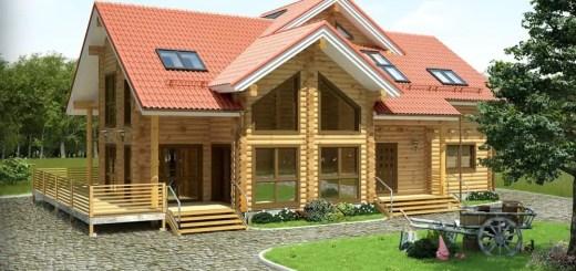 Case de vis din lemn frumoase