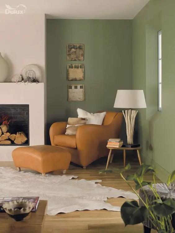 Culori moderne pentru living - un colt solitar