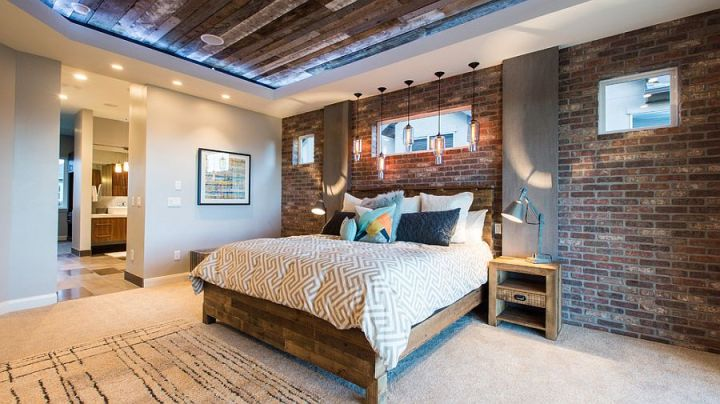 dormitoare cu pereti din caramida Bedrooms with brick walls 8