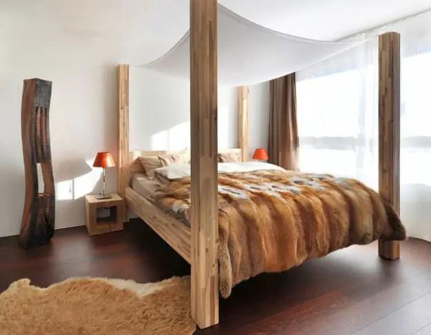 dormitoare imbracate in lemn wooden bedroom designs 2