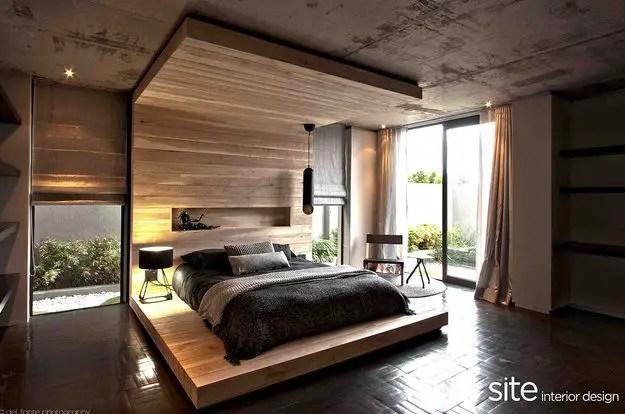 dormitoare imbracate in lemn wooden bedroom designs 3
