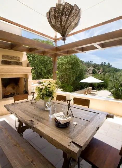 mese din lemn pentru terase Outdoor wooden tables 12