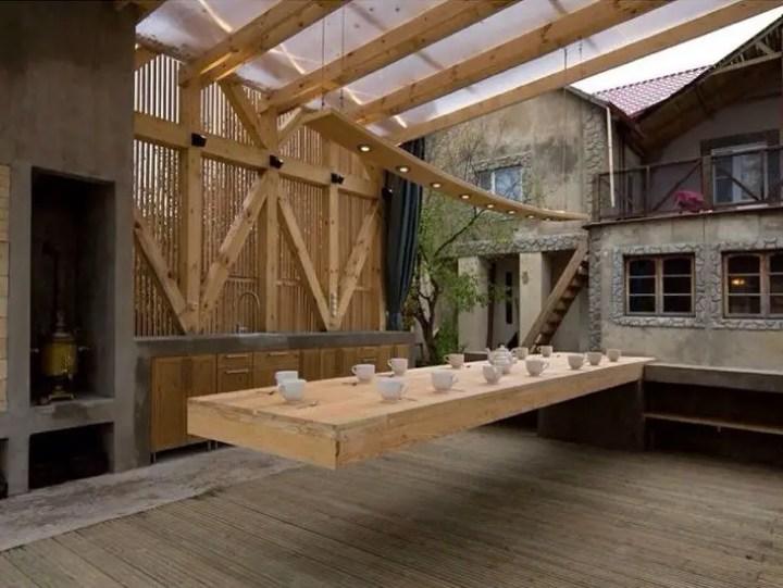 mese din lemn pentru terase Outdoor wooden tables 9