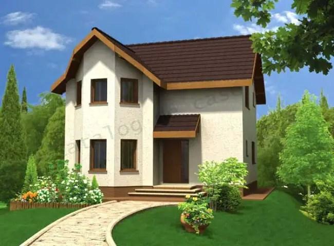 Proiecte de case mici cu doua dormitoare structura for Proiecte case mici cu mansarda gratis