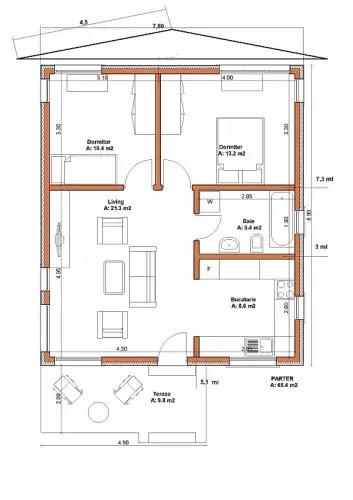 proiecte de case mici cu structura metalica Small steel frame house plans 10