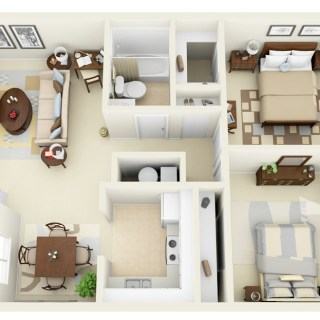 Amenajarea unui apartament cu 3 camere elegante