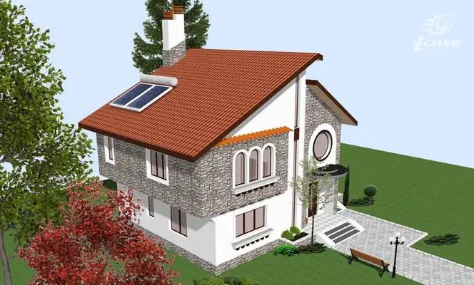 case placate cu piatra de munte Houses with stone veneer 2