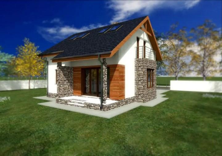case placate cu piatra de munte Houses with stone veneer 6