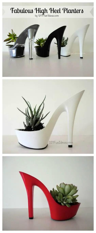 decoratiuni din pantofi shoe planters 2