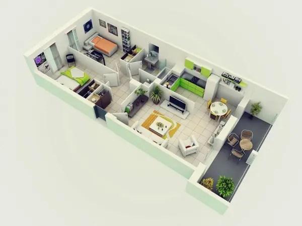 idei pentru amenajarea unui apartament cu 3 camere 3 room apartment layout ideas 2