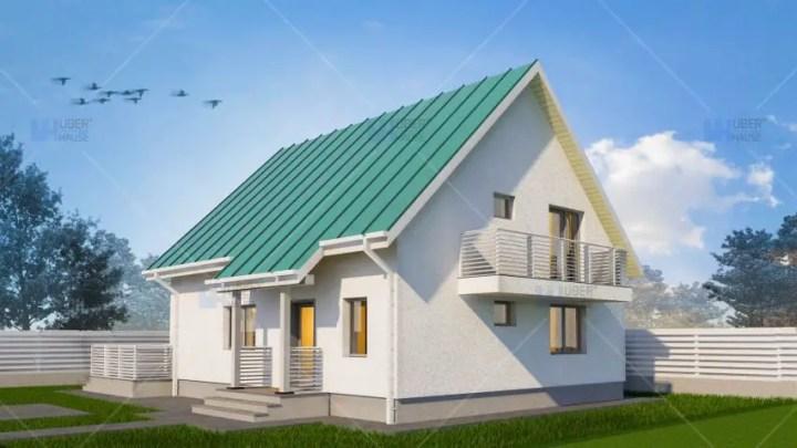 proiecte de case cu mansarda cu patru camere Four room attic house plans 6