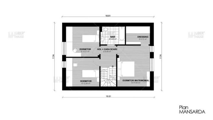 proiecte de case mici cu terasa acoperita Covered patio small house plans 7