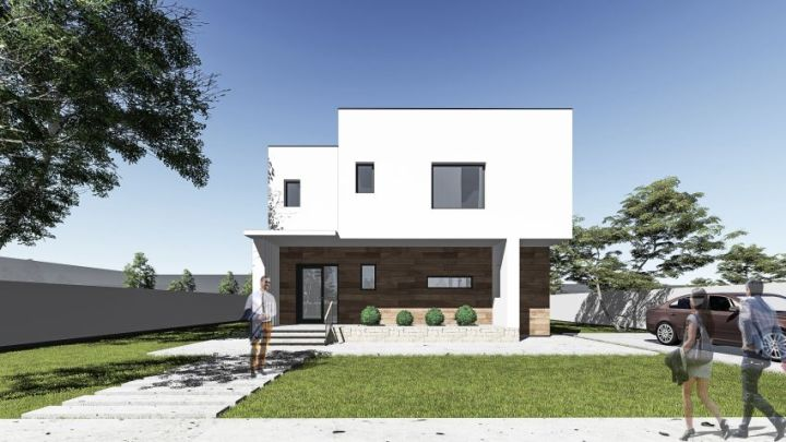 Proiecte de case mici cu un etaj superbe