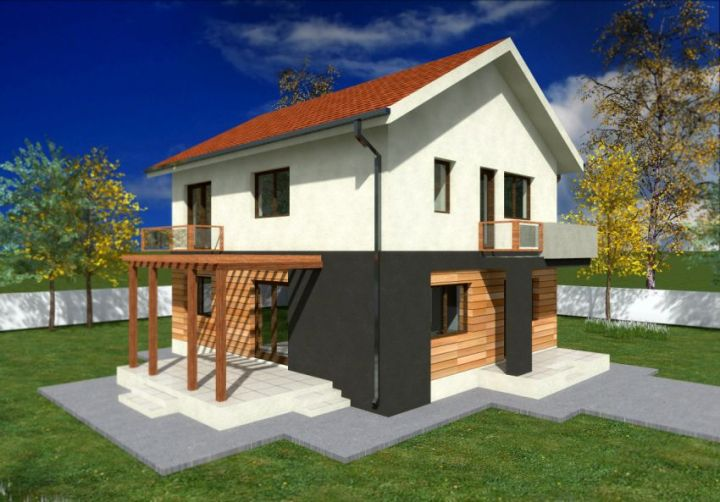 proiecte de case mici cu un etaj Two story small house plans