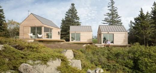 Trio arhitectonic modern in salbaticie