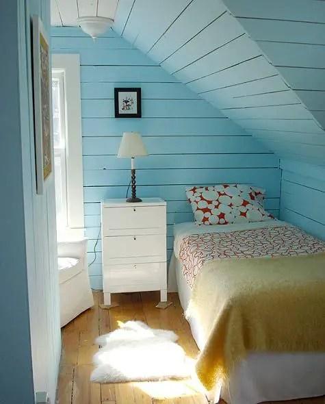 amenajarea unei mansarde mici small attic room design ideas 14