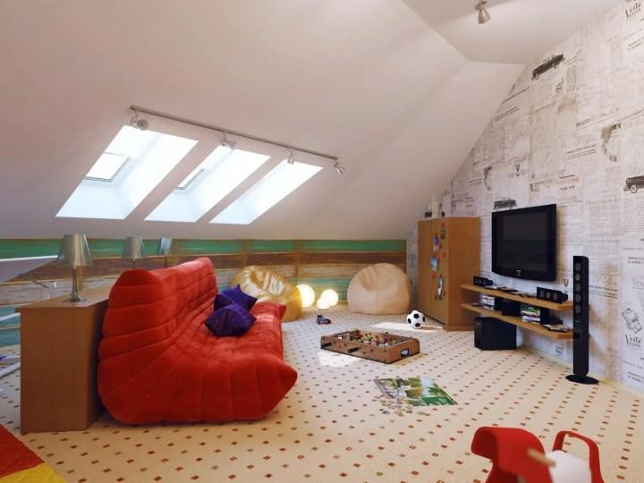 amenajarea unei mansarde mici small attic room design ideas 6