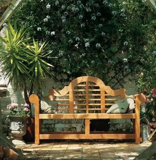 banci din lemn pentru gradina Garden wood benches ideas 12