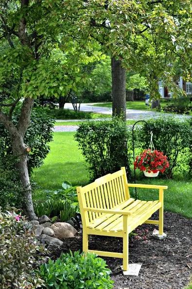 banci din lemn pentru gradina Garden wood benches ideas 13