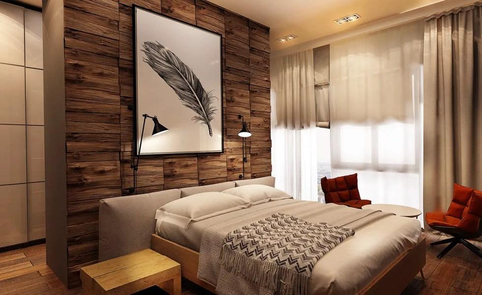Camere amenajate cu lambriu din lemn