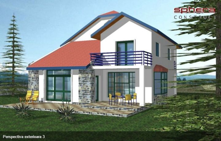 case cu etaj moderne Two story modern house plans 10