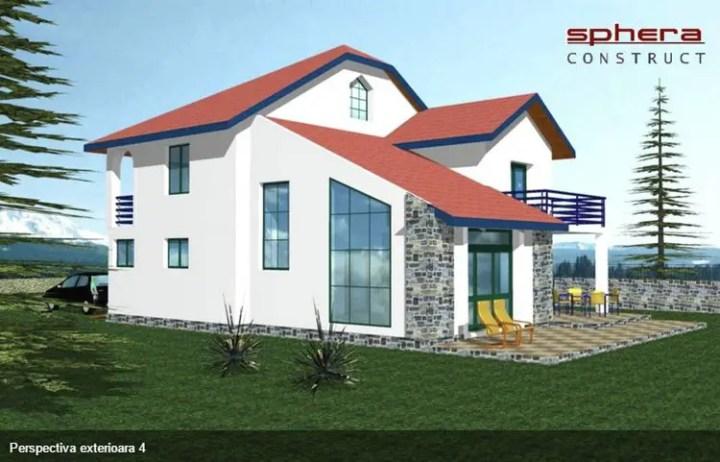 case cu etaj moderne Two story modern house plans 11