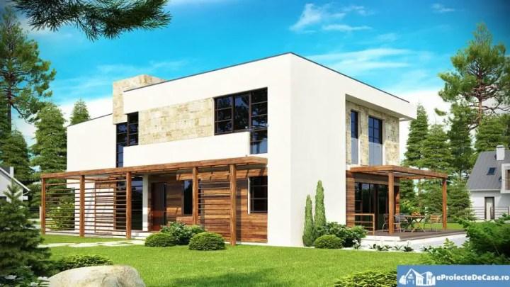 case cu etaj moderne Two story modern house plans 3