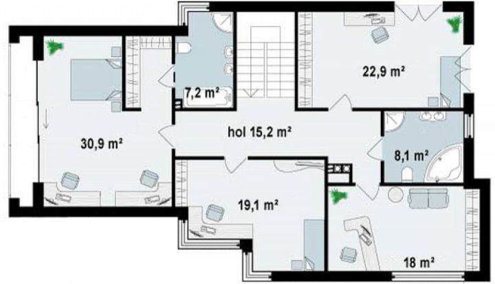 case cu etaj moderne Two story modern house plans 5