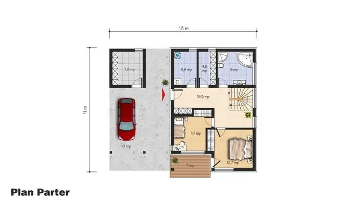 case cu etaj moderne Two story modern house plans 8