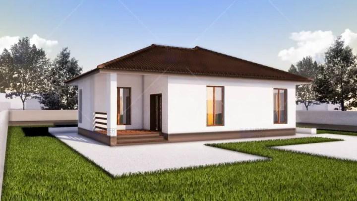 case de vis fara etaj Beautiful one story house plans 3
