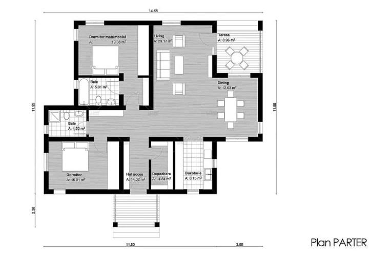 case de vis fara etaj Beautiful one story house plans 4
