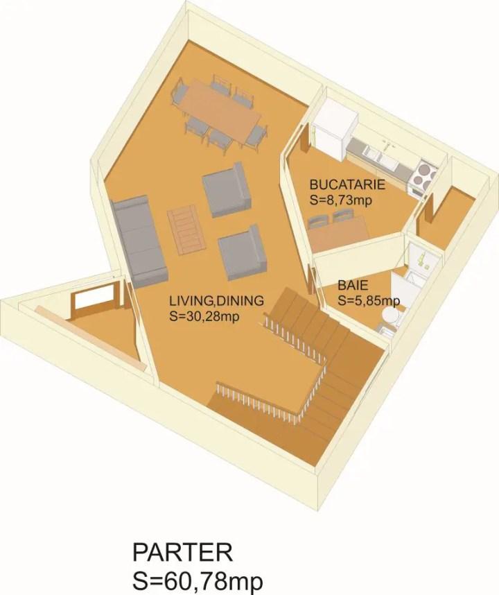 case din barne de lemn masiv Solid wood house plans 11