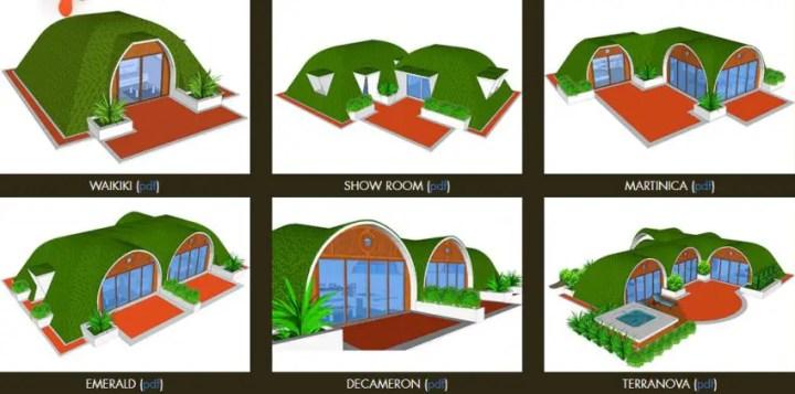 Casele hobitilor - design diferit