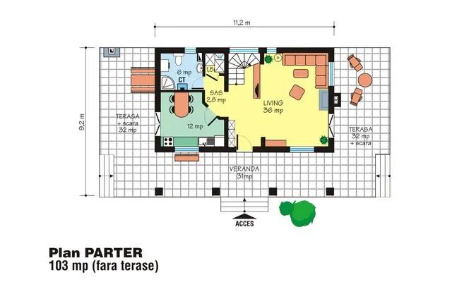 case mici cu trei dormitoare Small three bedroom house plans 8