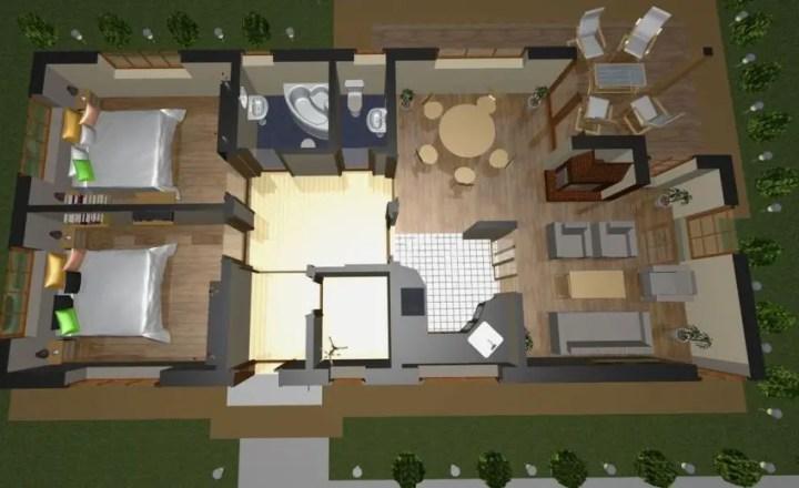 case mici moderne cu un singur nivel Small modern single level houses 4