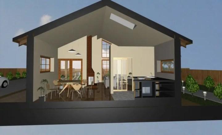 case mici moderne cu un singur nivel Small modern single level houses 5