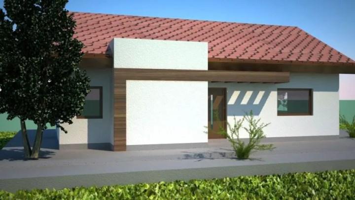 Case mici moderne cu un singur nivel ieftine