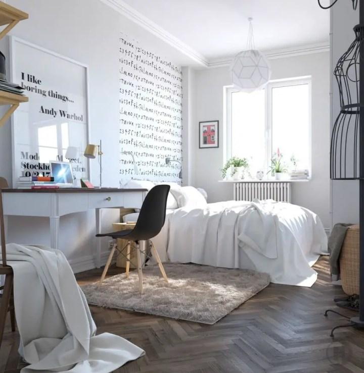 dormitoare scandinave Scandinavian bedrooms 2