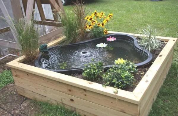 charming garden pond design