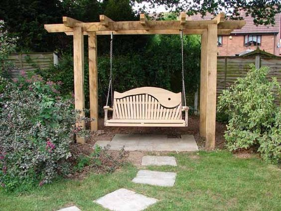 10 Beautiful Wooden Garden Swing Ideas Houz Buzz