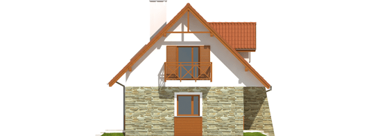 proiecte de case cu mansarda sub 100 de metri patrati Attic houses under 100 square meters 7