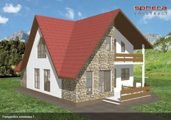 Proiecte de case cu piatra de rau - arhitectura dinamica