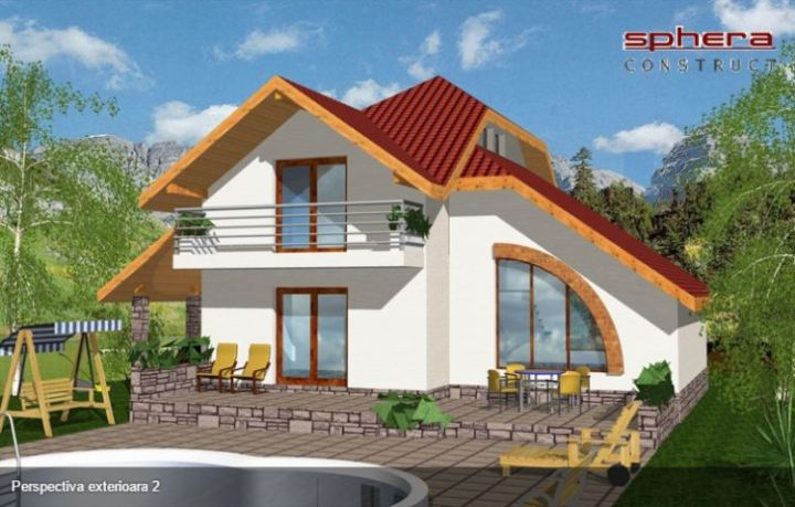 proiecte de case cu semineu House plans with fireplaces 12