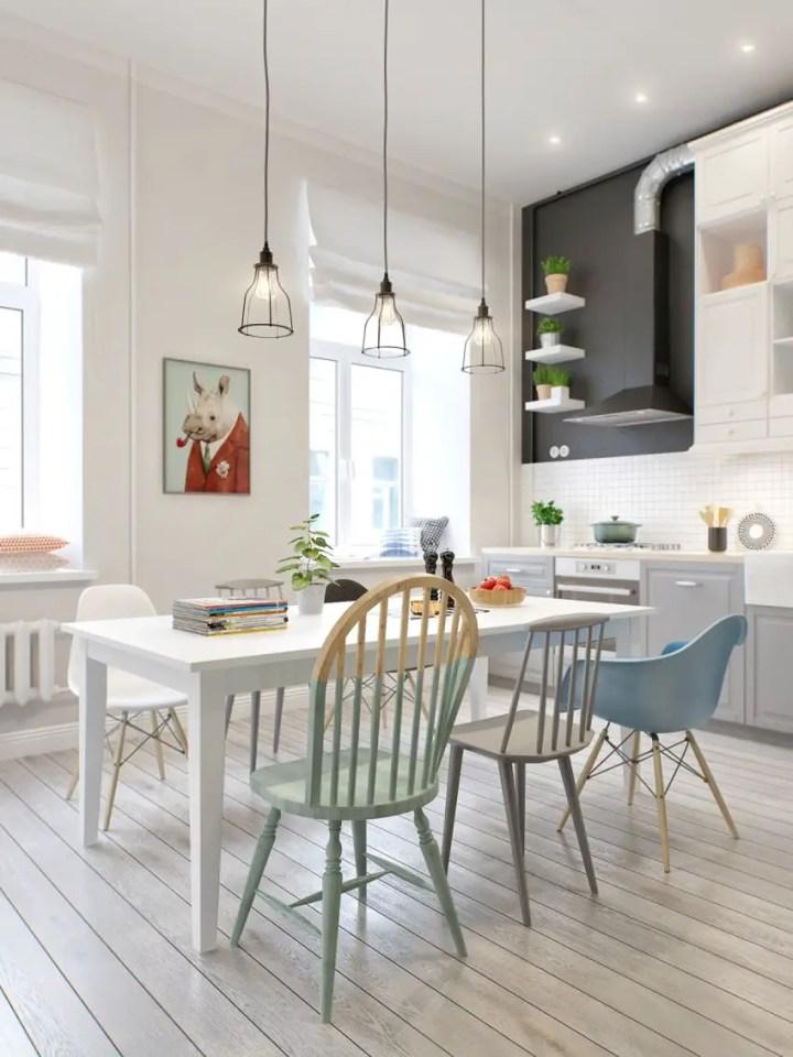 sufragerii in stil scandinav Scandinavian style dining rooms 6